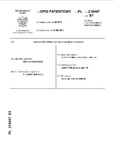 Sposób wykonywania wzmocnień podłoża gruntowego : opis patentowy nr 218447