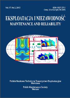 Eksploatacja i Niezawodność = Maintenance and Reliability Vol. 17 No. 2, 2015