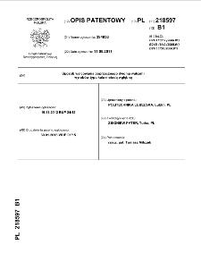 Sposób walcowania poprzecznego dwoma walcami wyrobów typu kula metodą wgłębną : opis patentowy nr 218597