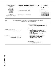 Sposób wytwarzania szeregowego układu pojemność-indukcyjność do układów mikroelektronicznych : opis patentowy nr 218600