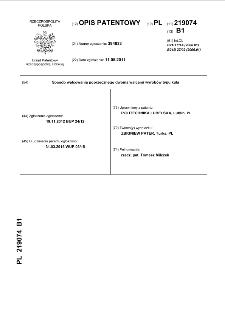Sposób walcowania poprzecznego dwoma walcami wyrobów typu kula : opis patentowy nr 219074
