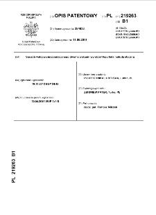 Sposób walcowania poprzecznego dwoma walcami wyrobów typu kula metodą styczną : opis patentowy nr 219263