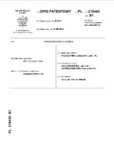 Sposób kształtowania radiatora : opis patentowy nr 219445