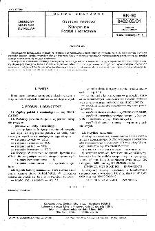 Obudowa metalowa - Stropnice - Podział i oznaczenie BN-90/0432-05/01