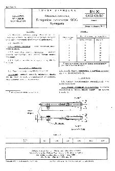 Obudowa metalowa - Stropnice członowe SCG - Wymagania BN-90/0432-05/02