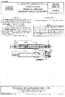 Obudowa metalowa - Stropnice członowe bezstrzemionowe SCGB-96-4 BN-80/0432-15