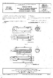 Obudowa metalowa - Sworznie do stropnic członowych bezstrzemionowych SCGB - Podstawowe wymagania i badania BN-87/0432-17