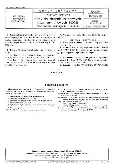 Obudowa metalowa - Kliny do stropnic członowych bezstrzemionowych SCGB - Podstawowe wymagania i badania BN-87/0432-18