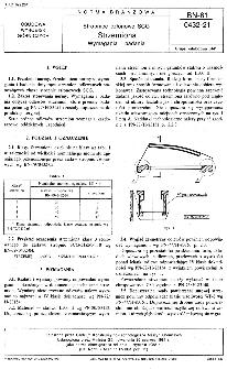 Stropnice członowe SCG - Strzemiona - Wymagania i badania BN-81/0432-21