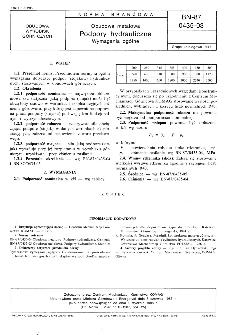 Obudowa metalowa - Podpory hydrauliczne - Wymagania ogólne BN-87/0435-03