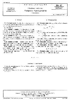 Obudowa metalowa - Podpory hydrauliczne - Ciśnienia BN-87/0435-04