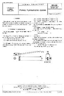 Pompy hydrauliczne ręczne BN-86/0491-02