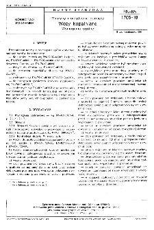 Maszyny i urządzenia górnicze - Wozy kopalniane - Wymagania ogólne BN-85/1705-18