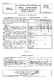 Maszyny i urzadzenia górnicze - Urządzenia strugowe - Parametry podstawowe BN-91/1714-01