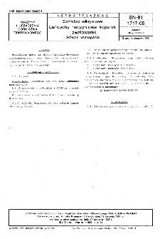 Górnictwo odkrywkowe - Łańcuchy naczyniowe koparek i zwałowarek - Główne wymagania BN-91/1717-05