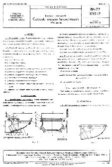 Koparki i zwałowarki - Czerpaki maszyn łańcuchowych - Wymagania BN-77/1717-17