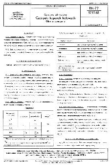 Górnictwo odkrywkowe - Czerpaki koparek kołowych - Główne wymagania BN-77/1717-18