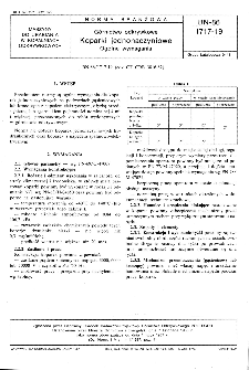 Górnictwo odkrywkowe - Koparki jednonaczyniowe - Ogólne wymagania BN-86/1717-19