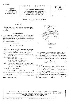 Górnictwo odkrywkowe - Obliczenia wydajności koparek kołowych BN-90/1717-24
