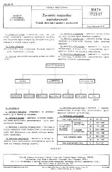 Zwrotniki rozjazdów wąskotorowych - Podział, określenia i parametry podstawowe BN-74/1722-27