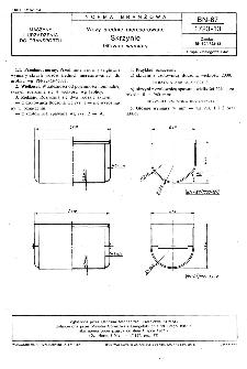 Wozy średnie nieresorowane - Skrzynie - Główne wymiary BN-87/1723-13