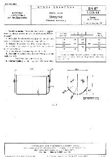 Wozy małe - Skrzynie - Główne wymiary BN-87/1723-14
