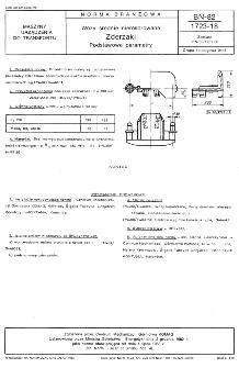 Wozy średnie nieresorowane - Zderzaki - Podstawowe parametry BN-82/1723-18