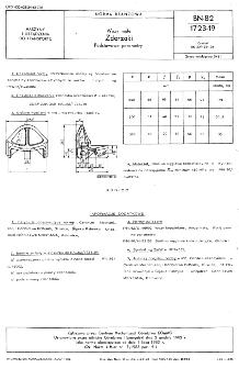 Wozy małe - Zderzaki - Podstawowe parametry BN-82/1723-19