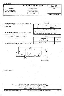 Wozy małe - Podłużnice - Główne wymiary BN-89/1723-21