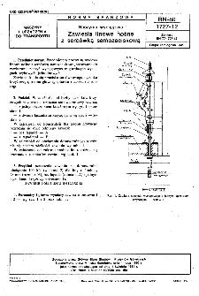 Naczynia wyciągowe - Zawiesia linowe nośne z sercówką samozaciskową BN-80/1727-12