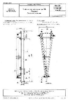 Kolejki szynowe podwieszane typu SKL - Rozjazd - Podstawowe wymagania BN-78/1728-05 Arkusz 02