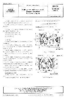 Kolejki szynowe podwieszane typu SKL - Zespoły krążków - Podstawowe wymagania BN-79/1728-05 Arkusz 07