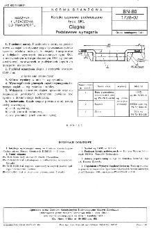 Kolejki szynowe podwieszane typu SKL - Cięgna - Podstawowe wymagania BN-80/1728-07