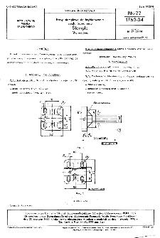 Prasy stemplowe do brykietowania węgla brunatnego - Stemple - Wymagania BN-77/1762-04
