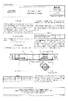 Wiercenia dołowe - Żerdzie rurowe BN-86/1771-02