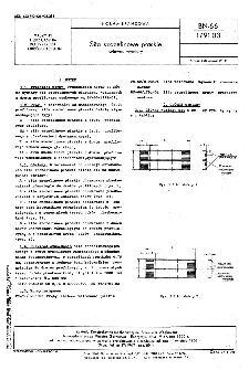 Sita szczelinowe płaskie - Główne wymiary BN-66/1791-03