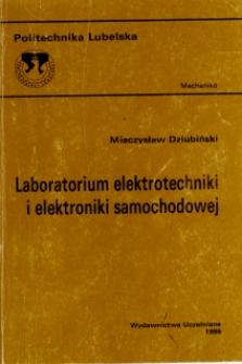 Laboratorium elektrotechniki i elektroniki samochodowej