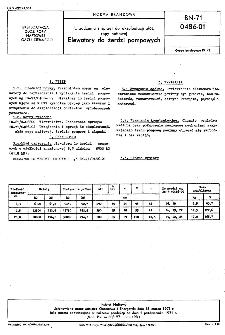 Urządzenia i sprzęt do eksploatacji złóż ropy naftowej - Elewatory do żerdzi pompowych BN-71/0486-01
