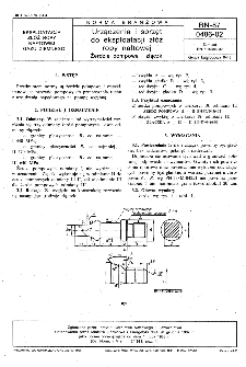 Urządzenia i sprzęt do eksploatacji złóż ropy naftowej - Żerdzie pompowe i złączki BN-87/0486-02