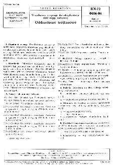 Urządzenia i sprzęt do eksploatacji złóż ropy naftowej - Oddzielacze trójfazowe BN-72/0486-06