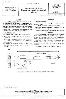 Eksploatacja złóż ropy naftowej - Klucze do żerdzi pompowych i złączek BN-73/0486-11