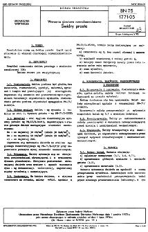 Wiercenia obrotowe normalnośrednicowe - Świdry proste BN-75/1771-05