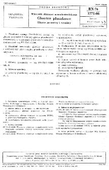 Wiercenia obrotowe normalnośrednicowe - Głowice płuczkowe - Główne parametry i wymiary BN-76/1771-08