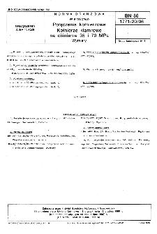 Wiertnictwo - Połączenia kołnierzowe - Kołnierze klamrowe na ciśnienie 35 i 70 MPa - Wymiary BN-86/1771-20/06