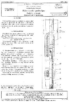 Wiercenia obrotowe normalnośrednicowe - Rdzeniówki podwójne - Kadłuby z rurami rdzeniowymi i łącznikami BN-74/1774-03
