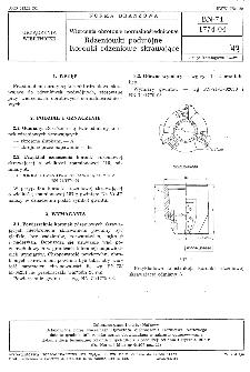 Wiercenia obrotowe normalnośrednicowe - Rdzeniówki podwójne - Koronki rdzeniowe skrawające BN-74/1774-04