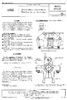 Wiercemia obrotowe normalnośrednicowe - Elewatory do rur płuczkowych BN-73/1775-17