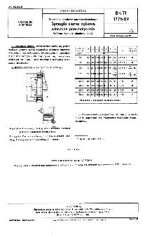 Wiercenia obrotowe normalnośrednicowe - Sprzęgła cierne dętkowe włączane pneumatycznie - Główne wymiary obudowy dętek BN-71/1775-09