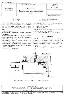 Wiertnictwo - Sterowanie pneumatyczne - Dławiki BN-73/1775-14