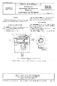 Wiertnictwo - Sterowanie pneumatyczne - Zawory szybkiego opróżniania BN-78/1775-24